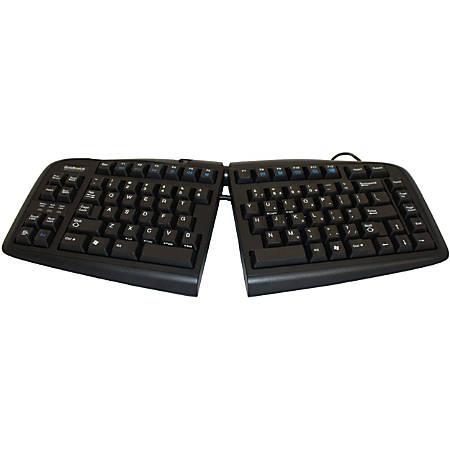 Goldtouch V2 USB Wired Ergonomic Split Keyboard, Black