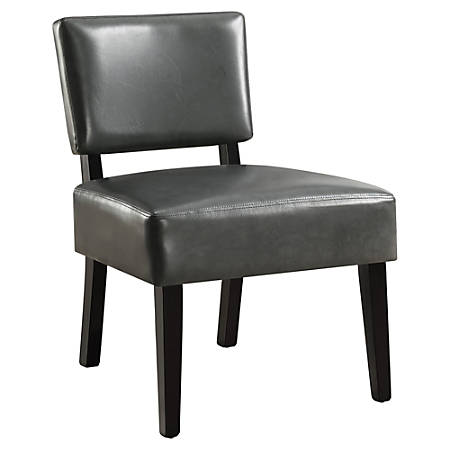 Monarch Specialties Armless Accent Slipper Chair Charcoal