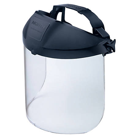 Honeywell Adjustable Face Shield - Adjustable, Impact Resistant, Visor - Splash, Impact, Chemical, Fluid Protection - Clear - 1 Each