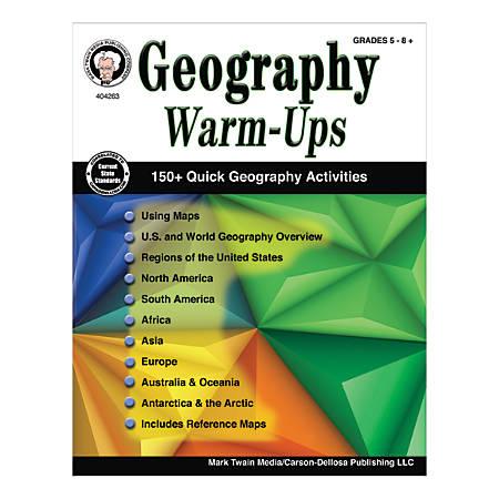 Mark Twain Media Geography Warm-Ups, Grades 5-8