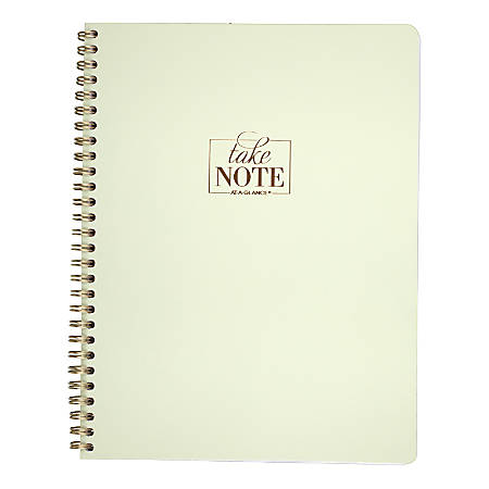 "AT-A-GLANCE® WorkStyle™ Take Care Notebook, 7 1/4"" x 9 1/2"", College Ruled, 160 Pages (80 Sheets), Pistachio"