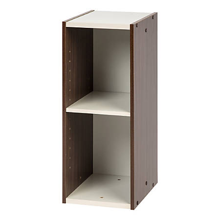 "IRIS Sema Series 24""H Narrow Space-Saving Shelf, Walnut Brown"