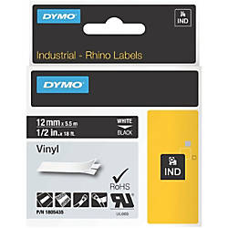 DYMO Black on White ID Labels