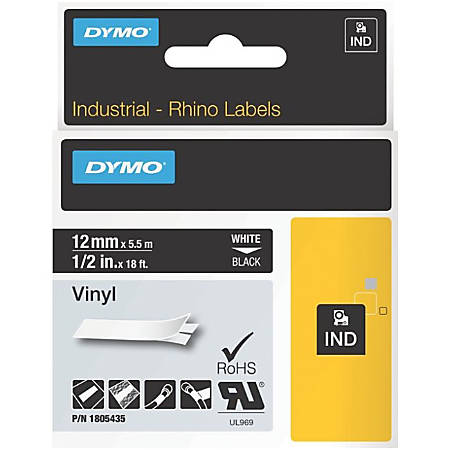 DYMO® Black on White ID Labels, LJ7448
