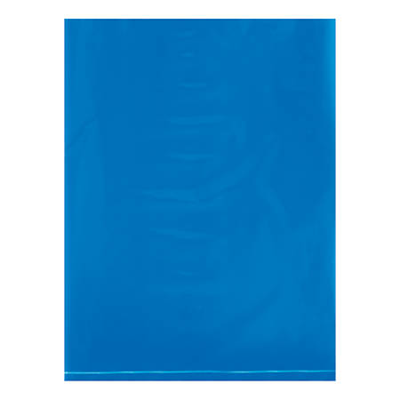 "Office Depot® Brand Flat 2-Mil Poly Bags, 9"" x 12"", Blue, Case Of 1,000"