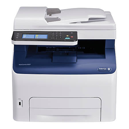 Xerox® WorkCentre Wireless Color Laser All-In-One Printer, Scanner, Copier And Fax, 6027/NI