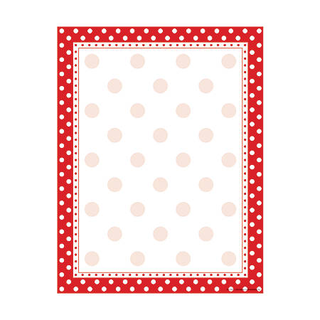 "Barker Creek Computer Paper, 8 1/2"" x 11"", Red-And-White Dot, Pack Of 50 Sheets"