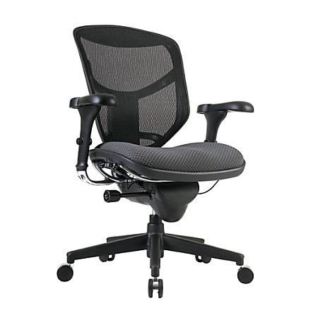 WorkPro® Quantum 9000 Series Ergonomic Mesh/Fabric Mid-Back Chair, Gray/Black