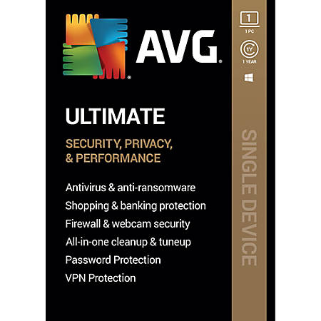 AVG Ultimate 2020, 1 Device, 1 Year Subscription, Windows, Download