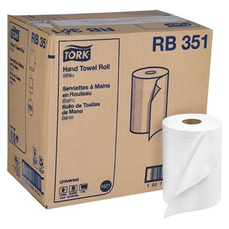 "Tork® Universal 1-Ply Hardwound Towel Rolls, 7 15/16"" x 350', White, Pack Of 12 Rolls"
