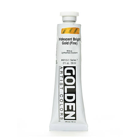 Golden Acrylic Paint, Fine, 2 Oz, Iridescent Bright Gold