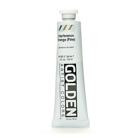 Golden Acrylic Paint, Fine, 2 Oz, Interference Orange