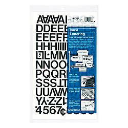 Chartpak Pickett Vinyl Letters And Numbers 34 Black By