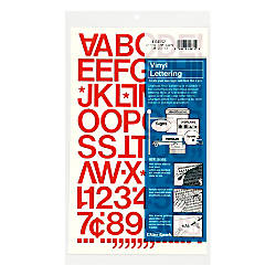 Chartpak Pickett Vinyl Letters And Numbers 1 Red By Office