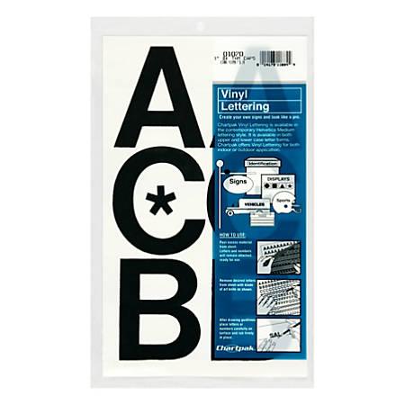 """Chartpak Pickett Vinyl Letters, 3"""", Black"""