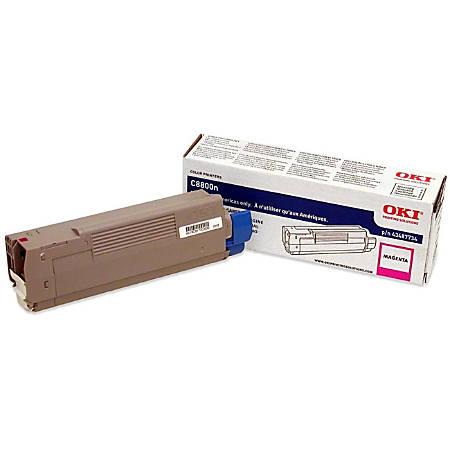 Oki Original Toner Cartridge - Laser - 6000 Pages - Magenta - 1 Each