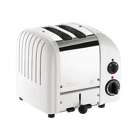 Dualit® NewGen Extra-Wide-Slot Toaster, 2-Slice, White