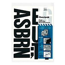 Chartpak Pickett Vinyl Letters 4 Black
