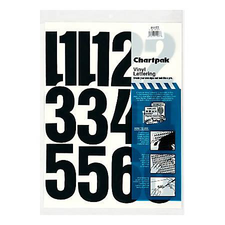 Chartpak Pickett Vinyl Numbers 4 Black
