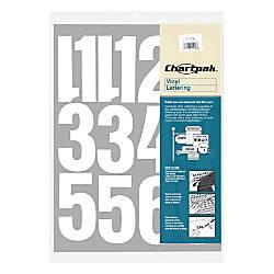Chartpak Pickett Vinyl Numbers 4 White