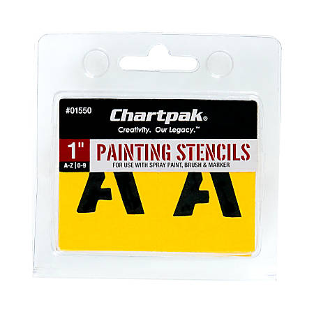 Chartpak Pickett Painting Stencils, Numbers/Letters, 1""