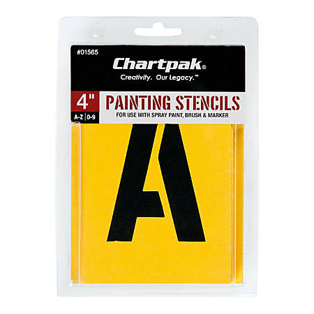 Chartpak Pickett Painting Stencils, Numbers/Letters, 4""