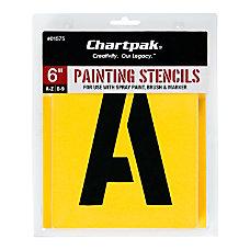 Chartpak Pickett Painting Stencils NumbersLetters 6