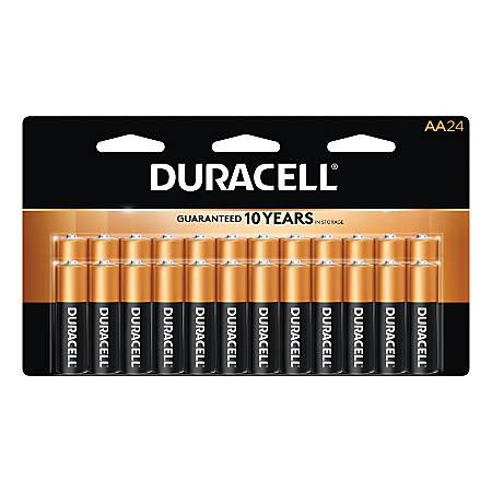 Duracell® Coppertop Alkaline AA Batteries, Pack Of 24 Batteries