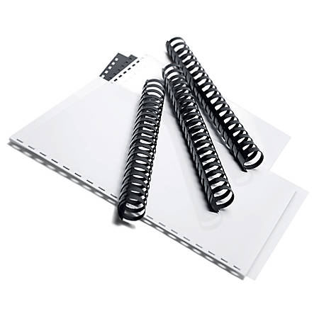 """Office Depot® Brand Comb Binding Spines, 1"""" Comb Size, Pack Of 25, Black"""