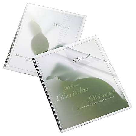 """Office Depot® Brand Binding Cover, 8 1/2"""" x 11"""", Clear Gloss, Pack Of 20"""