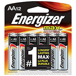 Energizer Max Alkaline AA Batteries Pack