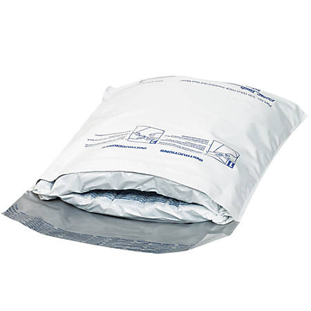 """Office Depot® Brand Cool Stuff Insulated Mailers, 9"""" x 11"""", White, Case Of 18"""