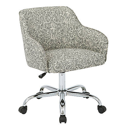 Office Star™ Avenue Six® Bristol Task Chair, Mesh, Veranda Pewter/Silver