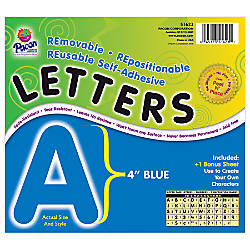 Pacon Self Adhesive Letters 4 Blue