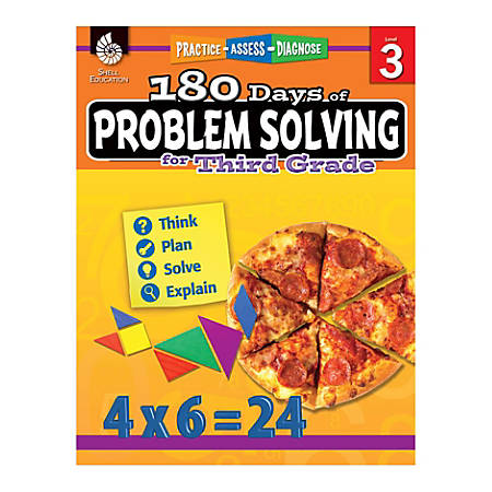 Shell Education 180 Days Of Problem Solving, Grade 3
