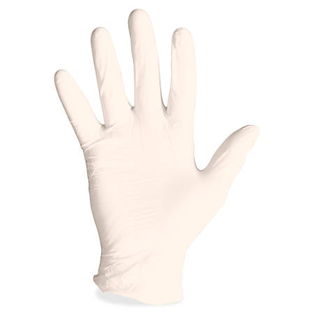 ProGuard Disposable Latex Powdered Gloves - X-Large Size - Latex - Natural - Powdered, Disposable, Ambidextrous, Rolled Cuff, Beaded Cuff - For Assembling, Cleaning, Manufacturing, Laboratory Application - 100 / Box