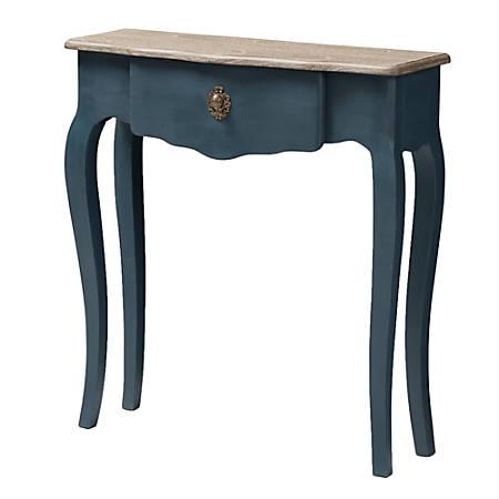 Tremendous Baxton Studio Ina Console Table Blue Item 4598512 Spiritservingveterans Wood Chair Design Ideas Spiritservingveteransorg