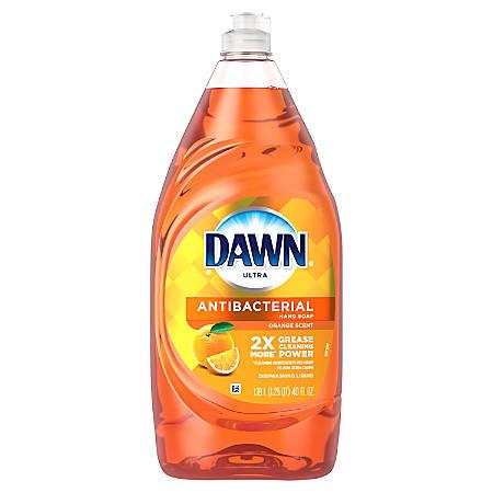 Dawn® Ultra Antibacterial Hand Soap Dishwashing Liquid Dish Soap, Orange Scent, 40 Oz, Pack of 8 Bottles