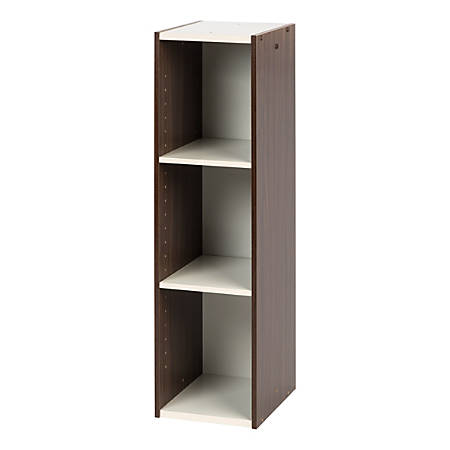 "IRIS 35""H Space-Saving Shelf, Walnut Brown"