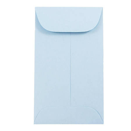 "JAM Paper® #3 Coin Envelopes, 4-1/4"" x 2-1/2"", Baby Blue, Pack Of 50 Envelopes"