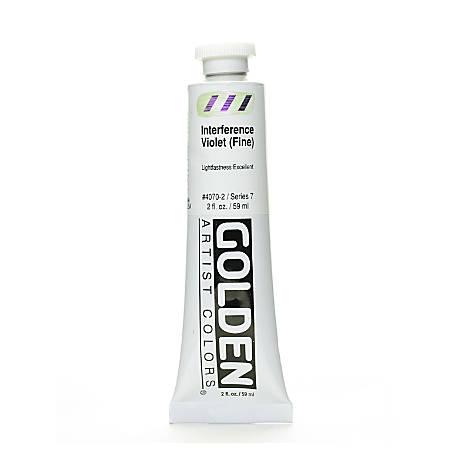 Golden Acrylic Paint, Fine, 2 Oz, Interference Violet