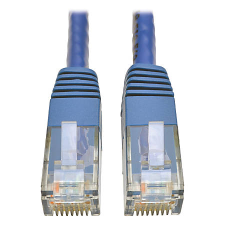Tripp Lite Cat6 Gigabit Molded Patch Cable RJ45 M/M 550MHz 24 AWG Blue 100'