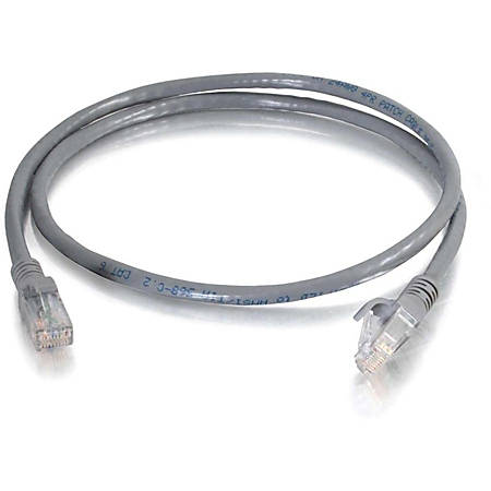 C2G 75 ft Cat6 Snagless Unshielded (UTP) Network Patch Cable (TAA) - Gray - Category 6 for Network Device - RJ-45 Male - RJ-45 Male -TAA Compliant - 75ft - Gray