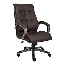 Lorell Tufted Executive Bonded Leather Swivel