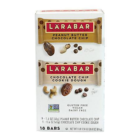 Larabar Fruit And Nut Bars, 2 Lb, Box Of 18, Assorted