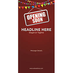 Custom Vertical Banner Opening Soon Bunting
