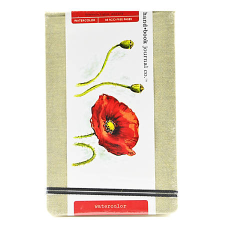 """Hand Book Journal Co. Travelogue Watercolor Journals, 5 1/4"""" x 8 1/4"""", Large Landscape, 60 Pages (30 Sheets), Pack Of 2"""
