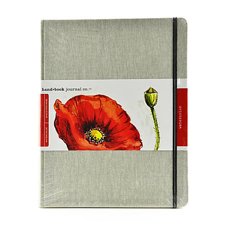 "Hand Book Journal Co. Travelogue Watercolor Journal, 10 1/2"" x 8 1/4"", 60 Pages (30 Sheets)"