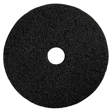 """Genuine Joe Floor Pads, Heavy-Duty Stripping, 13"""", Black, Pack Of 5"""