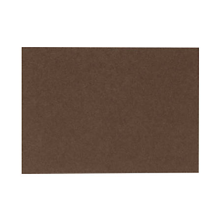 "LUX Flat Cards, A7, 5 1/8"" x 7"", Chocolate Brown, Pack Of 500"